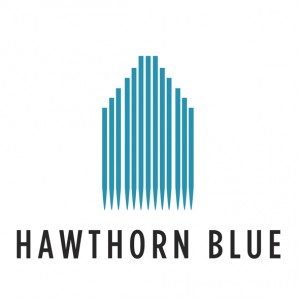 Small Hawthorn blue logo